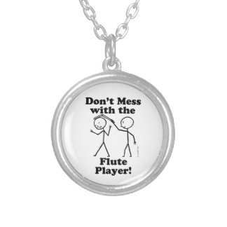 Don't Mess With The Flute Player Necklace