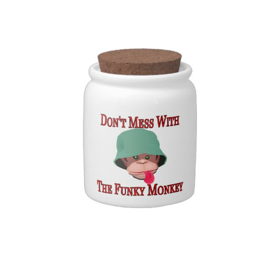 Don't Mess With The Funky Monkey Candy Jars