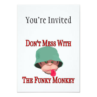 Don't Mess With The Funky Monkey Personalized Announcement