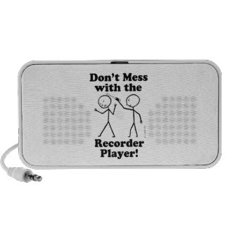 Don't Mess With The Recorder Player Notebook Speakers