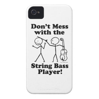 Don't Mess With The String Bass Player iPhone 4 Cover