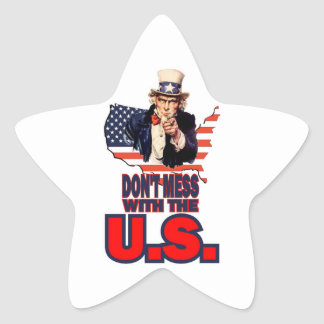 Don't Mess with the U.S. Star Sticker
