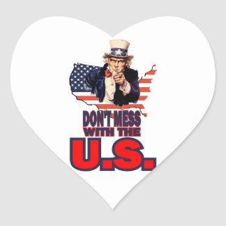 Don't Mess with the U.S. Heart Sticker