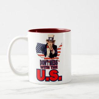 Don't Mess with the U.S. Two-Tone Coffee Mug