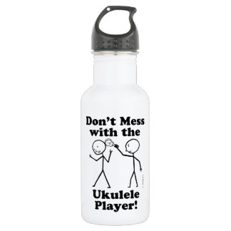 Don't Mess With The Ukulele Player Stainless Steel Water Bottle