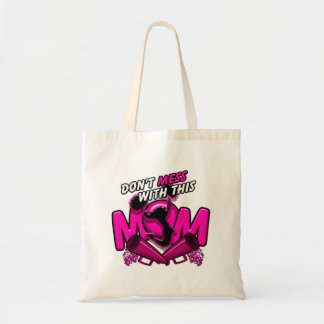 Don't Mess With This Cheer Mom Canvas Bag