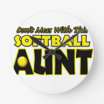 Don't Mess With This Softball Aunt.png Clocks