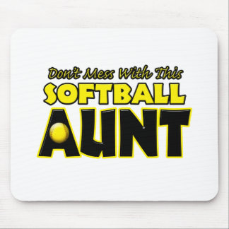 Don't Mess With This Softball Aunt.png Mouse Pad