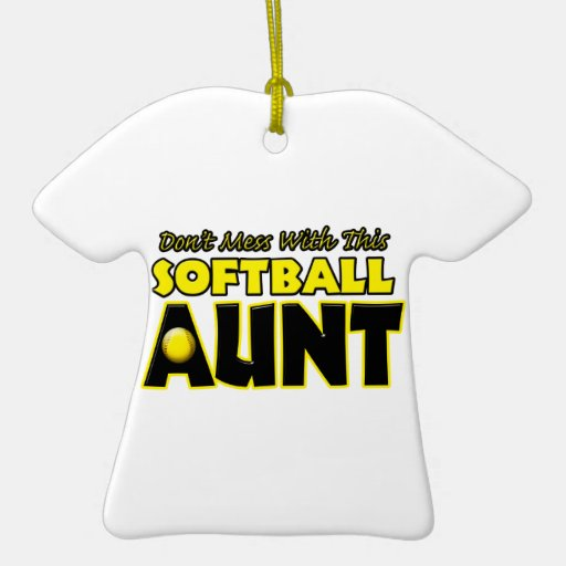 Don't Mess With This Softball Aunt.png Double-Sided T-Shirt Ceramic Christmas Ornament