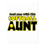 Don't Mess With This Softball Aunt.png Postcard