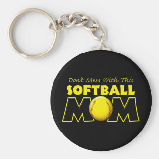 Don't Mess With This Softball Mom copy.png Keychain