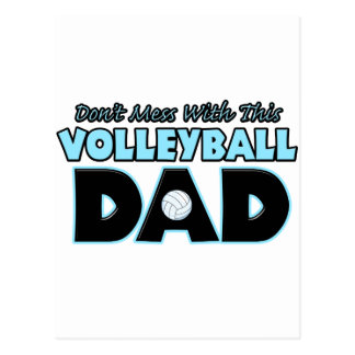 Don't Mess With This Volleyball Dad copy.png Postcard