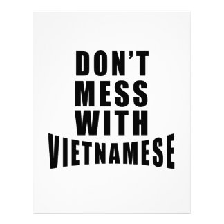 Don't Mess With VIETNAMESE Letterhead