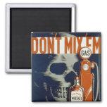 Don't Mix 'em - 1936 2 Inch Square Magnet