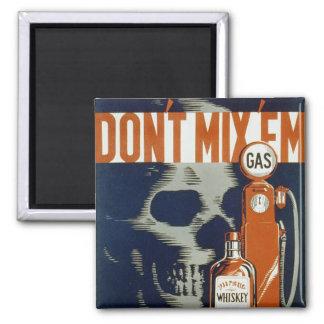 Don't Mix 'em - 1936 Refrigerator Magnets