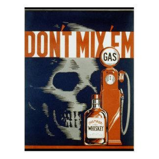 Don't Mix 'em - 1936 Postcard
