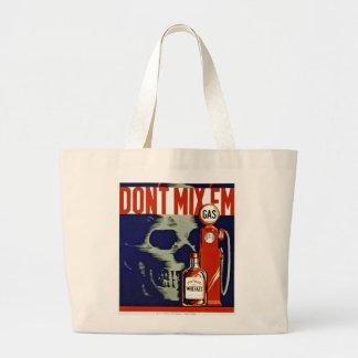 Don't Mix 'Em Large Tote Bag