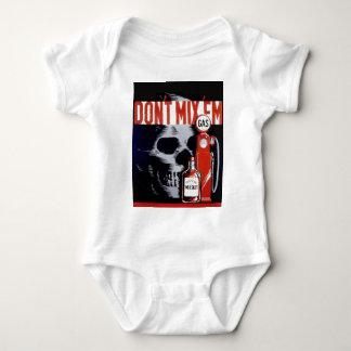 Don't Mix Them Skull Whiskey Gas Vintage poster Baby Bodysuit