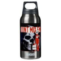 Don't Mix Them Skull Whiskey Gas Vintage poster Insulated Water Bottle