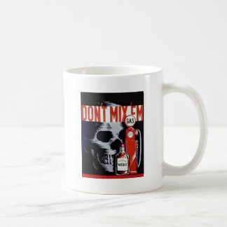 Don't Mix Them Skull Whiskey Gas Vintage poster Classic White Coffee Mug
