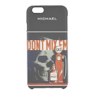 """""""Don't Mix Them"""" vintage art custom cases Uncommon Clearly™ Deflector iPhone 6 Case"""