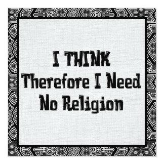Don't Need Religion Invitation