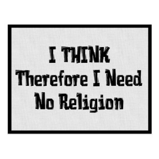 Don't Need Religion Postcard