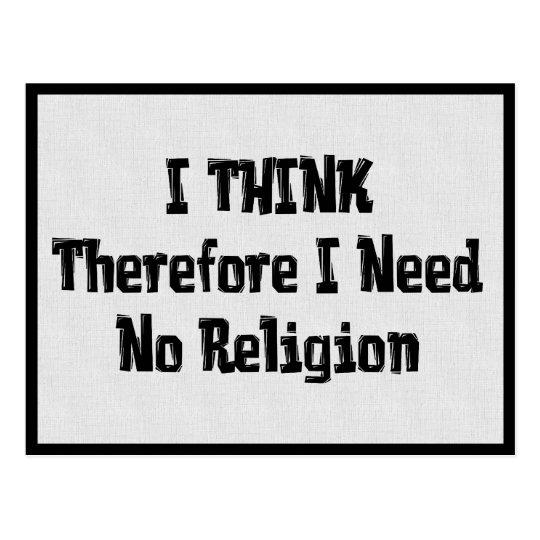 Don't Need Religion Postcard