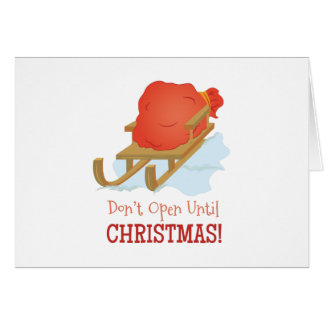 Dont Open Card