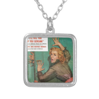 Don't Open That Door! Silver Plated Necklace