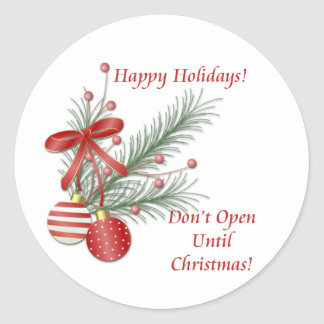 Don't Open Until Christmas Stickers
