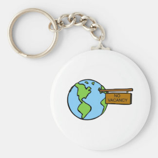 Don't overcrowd our planet keychain
