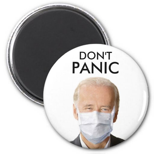 DON'T PANIC 2 INCH ROUND MAGNET