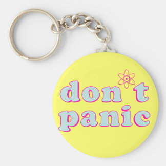 Don't Panic Basic Round Button Keychain