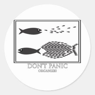 Dont' Panic be Organize! Classic Round Sticker