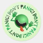 don't panic bug round stickers