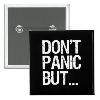 Don't Panic 2 Inch Square Button