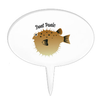 Dont Panic Cake Topper