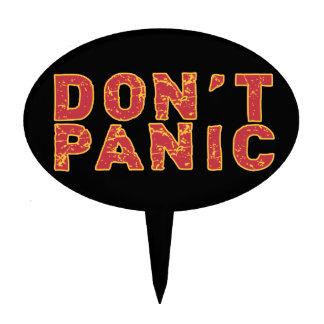 Don't Panic Cake Topper