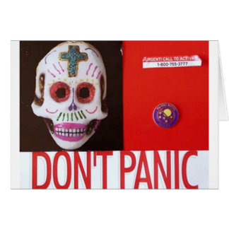 DONT PANIC GREETING CARDS