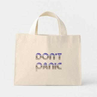 Dont Panic Chrome Canvas Bag