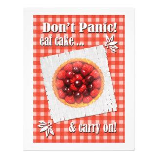 Don't Panic Eat Cake Flyer