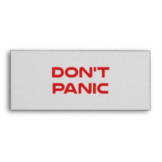 Don't Panic Envelope