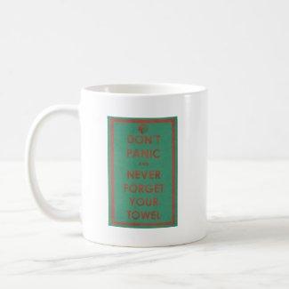 Don't Panic Funny Design Coffee Mugs