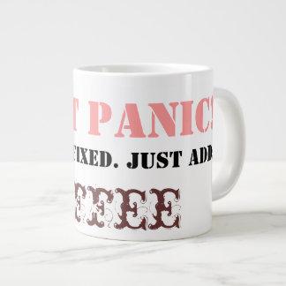 Don't Panic: Just add COFFEE! Large Coffee Mug