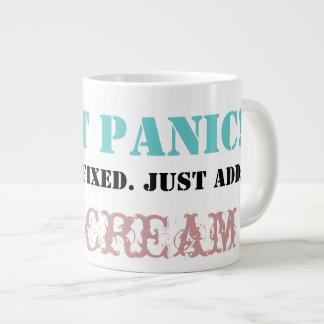 Don't Panic: Just add ICE CREAM! Large Coffee Mug