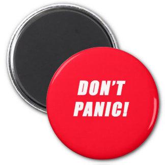 don't panic fridge magnet