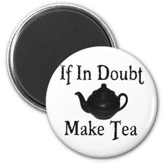 Don't panic - make tea! fridge magnets