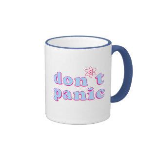 Don't Panic Ringer Coffee Mug