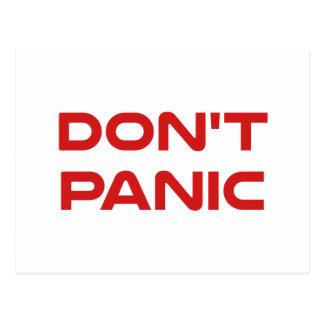 Don't Panic Postcard